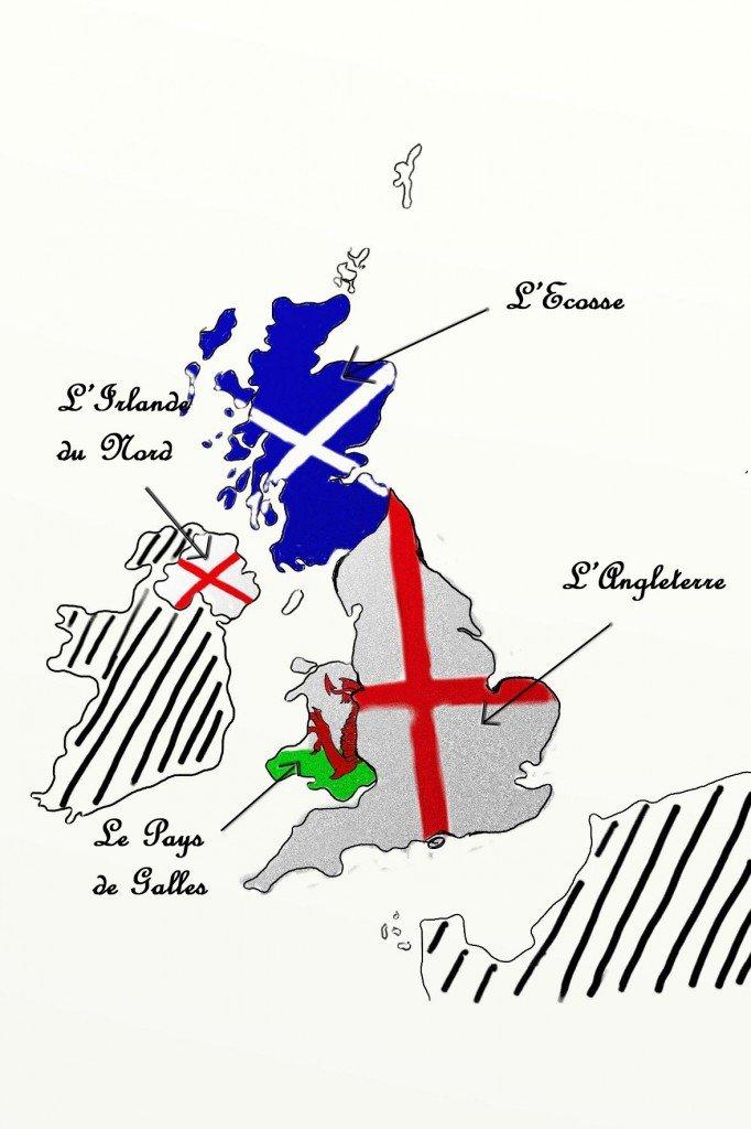 Les pays du Royaume-Uni dans le royaume-uni et l'Irlande carte-nom11